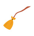 broom wooden handle tool cleaning flat icon design vector image vector image
