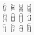 Car icons top view vector image
