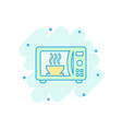 cartoon microwave icon in comic style microwave vector image