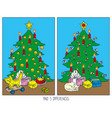 christmas game for children find differences vector image