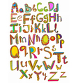 Colorful abc hand drawn vector