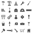 Construction icons on white background vector image vector image