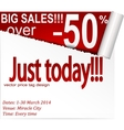 Coupon banner with torn edge vector image vector image