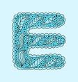 Cute letter E Floral monogram E vector image vector image