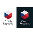czech republic flag - logo for sport or travel vector image