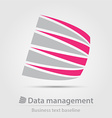 Data management service business icon vector image
