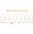 different types women ass vector image vector image