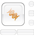 DNA white button vector image vector image