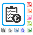 euro purchase pad framed icon vector image