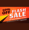 flash sale promotional banner template for vector image vector image