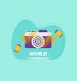 flat design world photography day logo vector image vector image