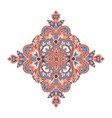 floral oriental pattern wonderland flower ornament vector image
