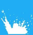 fresh milk splash on blue background vector image vector image