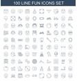 fun icons vector image vector image