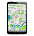 Gps navigator in smartphone vector | Price: 1 Credit (USD $1)