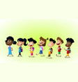 group of children running vector image vector image