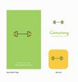 gym rod company logo app icon and splash page vector image vector image