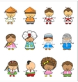 Happy Children Of Different National Suits vector image vector image