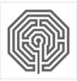 Hexagonal heathen Labyrinth Symbol vector image