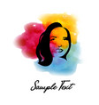 in watercolor style with a portrait o vector image