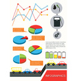 Infographics of the vehicles vector image vector image