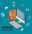 isometric technology 3d concept vector image vector image