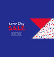 labor day sale shop now long banner vector image vector image