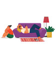 life young couple at home family indoor vector image vector image
