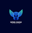 logo wing mask gradient colorful style vector image