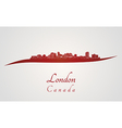 London skyline in red vector image