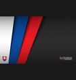 modern background with slovak colors vector image vector image