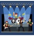 music band on stage entertainment show vector image vector image