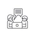 online seminar line icon concept online seminar vector image vector image
