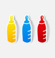 realistic design element baby bottle vector image vector image