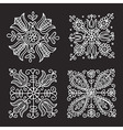 rectangular floral folk ornament vector image
