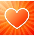 Red heart on shining background vector image vector image