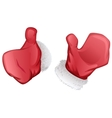 Red mittens of Santa Claus vector image vector image