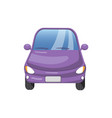 retro violet car front view auto insurance vector image vector image