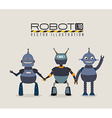 Robot design over gray background vector image