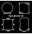 Rope Frames on Black Background vector image vector image