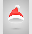 santa claus red hat in flat style vector image vector image