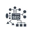 seo planing glyph icon vector image vector image