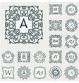 Set Luxury Logos template flourishes calligraphic vector image vector image