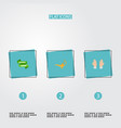 set of ramadan icons flat style symbols with vector image