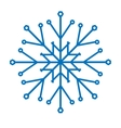 Snowflake isolated vector image vector image