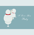 snowman family portrait on blue background for vector image vector image