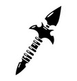 spear icon simple black style vector image