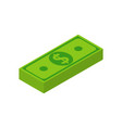 stack money isometric cash money pack icon vector image