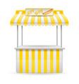 street food stall hotdog vector image vector image