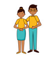 teenagers girl and boy vector image vector image